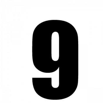 Numéro noir sur fond blanc...
