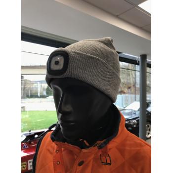 Bonnet gris avec LED
