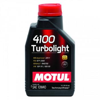 HUILE MOTUL 4100 TURBOLIGHT...